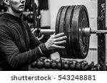 gym hard training man  | Shutterstock . vector #543248881