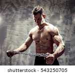 the perfect male body. awesome... | Shutterstock . vector #543250705