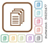 documents simple icons in color ... | Shutterstock .eps vector #543251677