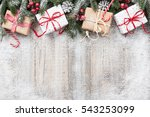 christmas decoration and gift... | Shutterstock . vector #543253099