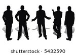 businessmen isolated on white... | Shutterstock . vector #5432590