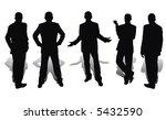 businessmen isolated on white... | Shutterstock . vector #5432590