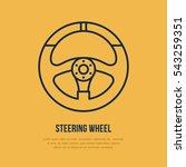 steering wheel vector line icon....   Shutterstock .eps vector #543259351