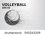 a volley of particles.... | Shutterstock .eps vector #543263209