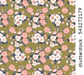 seamless cute pattern of small... | Shutterstock .eps vector #543272179