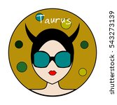 taurus zodiac sign. icon with... | Shutterstock .eps vector #543273139