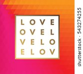 romantic love gold minimal logo ... | Shutterstock .eps vector #543274255
