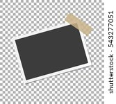 photo frame with shadow on... | Shutterstock .eps vector #543277051