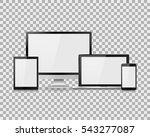 set of realistic computer... | Shutterstock .eps vector #543277087