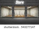 modern empty elite store front... | Shutterstock . vector #543277147