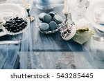 wedding candy bar with... | Shutterstock . vector #543285445
