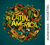 latin america colorful festive... | Shutterstock .eps vector #543287581