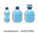 small and big plastic water... | Shutterstock .eps vector #543292981