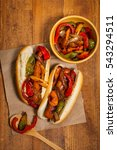 hot dogs fajita style with... | Shutterstock . vector #543294511