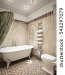 Bathroom In Rustic Style Of...