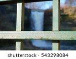 beautiful winter waterfall... | Shutterstock . vector #543298084