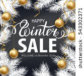 winter holidays greeting card... | Shutterstock .eps vector #543302371