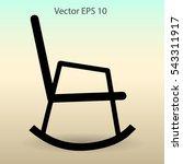 rocking chair vector... | Shutterstock .eps vector #543311917