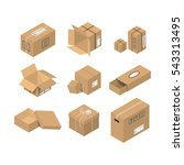 cardboard box vector packaging... | Shutterstock .eps vector #543313495