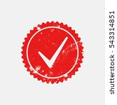 checkmark stamp red color... | Shutterstock .eps vector #543314851