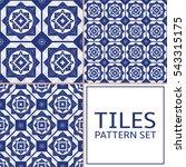set of 3 greek tile pattern...   Shutterstock .eps vector #543315175