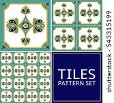 Set Of 3 Tile Pattern Vector...