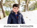 winter portrait of kid boy  | Shutterstock . vector #543316294