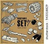 Hand Drawn Vegetables Set....