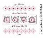 cherish the love card   line...   Shutterstock .eps vector #543323161