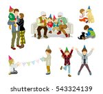 party people set   children and ... | Shutterstock .eps vector #543324139