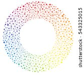 rainbow spectrum colored... | Shutterstock .eps vector #543325015