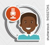 man microphone audio speak | Shutterstock .eps vector #543327241