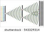 diffraction   Shutterstock .eps vector #543329314