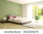 white bedroom with green... | Shutterstock . vector #543334675