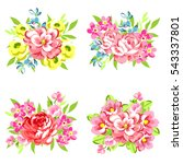 flower set | Shutterstock . vector #543337801