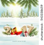 happy new year 2017 nature... | Shutterstock .eps vector #543338659