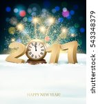 holiday new year's background... | Shutterstock .eps vector #543348379