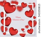valentine's day background with ... | Shutterstock .eps vector #543350815