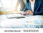business adviser analyzing... | Shutterstock . vector #543353335