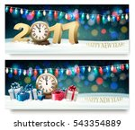 happy new year banners with... | Shutterstock .eps vector #543354889