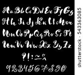 hand drawn font made by dry... | Shutterstock .eps vector #543363085