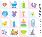 background with baby boy... | Shutterstock . vector #543366991