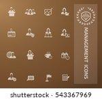 management  businessman icon... | Shutterstock .eps vector #543367969