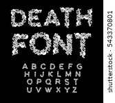 death font. bones abc. skeleton ... | Shutterstock .eps vector #543370801