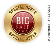 red big sale badge   button... | Shutterstock .eps vector #543372319