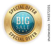 blue big sale badge   button... | Shutterstock .eps vector #543372331