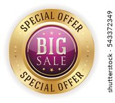 purple big sale badge   button... | Shutterstock .eps vector #543372349