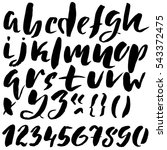 hand drawn font made by dry... | Shutterstock .eps vector #543372475