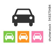 car icon on white background.... | Shutterstock . vector #543375484