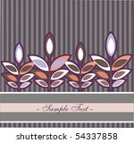 abstract background with leafs.   Shutterstock .eps vector #54337858